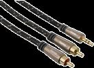 hama Câble audio jack 3,5 mm - 2 RCA mâle , 3 m