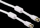 hama Antennen-Kabel Flexi-Slim, Koax-Stecker - Koax-Kupplung, 95 dB, 3 m