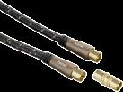 hama Antennen-Kabel, Koax-Stecker - Koax-Kupplung, 120 dB, 5 m