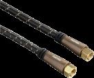 hama SAT-Anschlusskabel, F-Stecker - F-Stecker, Metall, vergoldet, 5 m, 120 dB