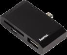 hama 3in1-Adapter für Tablet-PCs mit microUSB-Anschluss