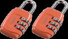 hama Zahlen-Gepäckschloss 2er-Set, orange
