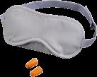 hama Gepolsterte Schlafmaske mit zwei Ohrstöpseln, grau