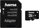 hama microSDHC Class 10 UHS-I + Adapter/Action-Cam - Carte mémoire - 8 GB - Noir