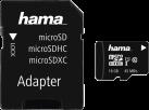 hama microSDHC Class 10 UHS-I 16 GB + Adapter - Noir