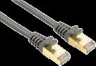 hama Câble réseau CAT-5e STP, 0.5 m, gris