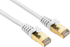 hama Câble réseau CAT-5e STP, 0.5 m, blanc
