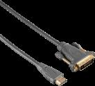 hama 00133403 - HDMI - DVI-D Kabel - 1.8 m - Grau