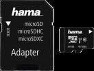 hama microSDHC Class 10 UHS-I + Adapter/Action-Cam - Carte mémoire - 64 GB - Noir