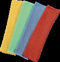 xavax Mikrofasertücher, 30 x 30 cm, blau / grün / gelb / rot