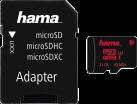 hama microSDHC Class 3 UHS-I + Adapter/Mobile - Schede di memoria - 16 GB - Nero