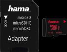 hama microSDXC + SD-Adapter/Mobile - Speicherkarte - Kapazität 64 GB - Schwarz