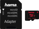 hama microSDXC + SD-Adapter/Foto - Speicherkarte - Kapazität 64 GB - Schwarz