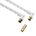 hama Antennen-Kabel 90°, 1.5 m