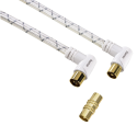 hama Câble d'antenne 90°, 3 m