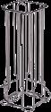 xavax 111190 - Kaffee-Kapselständer Colonna für Dolce Gusto - Silber