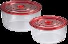 xavax Lot de boîtes p. congélateurs/fours en verre, 2 pièces