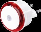 hama Basic - Nachtlicht - 8 kWh - Rot/Weiss