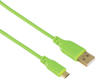 hama Câble Micro USB Flexi-Slim, 0.75 m, vert