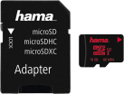 hama microSDHC 16GB UHS Speed Class 3 UHS-I 80MB/s + SD Adaptateur - Noir