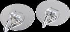 xavax Klebepads mit Metallhaken, 2 Stück