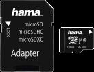 hama microSDXC UHS-I + Adapter/Mobile - Speicherkarte - 128 GB - Schwarz
