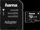 hama microSDXC UHS-I + Adapter/Foto - Speicherkarte - 128 GB - Schwarz