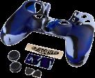 hama Set d'accessoires 7 en 1 Blue Camo pour manette Dualshock 4 de PS4