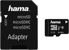 hama microSDHC Class 10 UHS-I + Adapter/Mobile - Carte mémoire - 32 GB - Noir