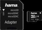 hama microSDHC 16GB Class 10 UHS-I 80MB/s + adaptateur SD - Noir
