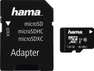 hama microSDXC + SD-Adapter/Mobile - Speicherkarte - Kapazität 128 GB - Schwarz