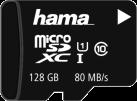 hama microSDXC UHS-I - Speicherkarte - 128 GB - Schwarz