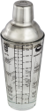 xavax Cocktail-Shaker aus Glas - 400 ml - Silber/Transparent