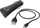 hama Qualcomm® Quick Charge™ 2.0 - Kit di ricarica per auto - Micro-USB - Nero
