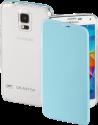 hama Clear Étui portefeuille - Pour Samsung Galaxy S5 (Neo) - Bleu clair