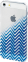 hama Cover Blurred Lines für Apple iPhone 5/5s/SE, blau