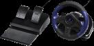 hama uRage GripZ - Volant Racing Wheel - Moteur intégré pour reproduire les vibrations - Noir/Bleu