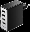 hama 173677 - Ladegerät - 4-fach USB - Schwarz