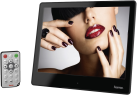 hama DPF-8SLP - Cadre photo numérique - Slim - Noir/Argent