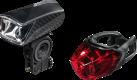 hama Profi L.E.D. - Kit de feux de vélo - Anti-éclaboussures - Noir