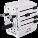 hama MUV USB - Weltreisestecker - 2 polig - Weiss