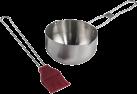 xavax - Mariniertopf mit Silikonpinsel - Silber/Rot