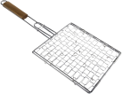 xavaz - Paniere per griglia con manici in legno - Argento