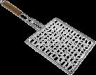 xavax - Grillkorb mit Holzgriff - Silber