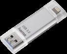 hama Save2Data - USB-Stick - 64 GB - Silber