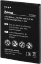 hama Ioni di litio batteria - per Samsung Galaxy S4 mini - Nero