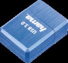 hama Micro Cube - Clé USB - 128 Go - Bleu