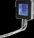 xavax 111593 - Bluetooth-Grill-Thermometer - Mit zwei Edelstahlsonden - Schwarz/Silber
