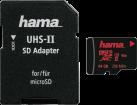 hama microSDXC UHS-II Mobile - Cartes mémoire - 64 Go - Noir