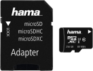 hama microSDXC Class 10 UHS-I + Adapter/Mobile - Carte mémoire - 256 GB - Noir